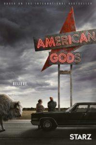 Amerykańscy bogowie Plakat Gitarą Rysowane
