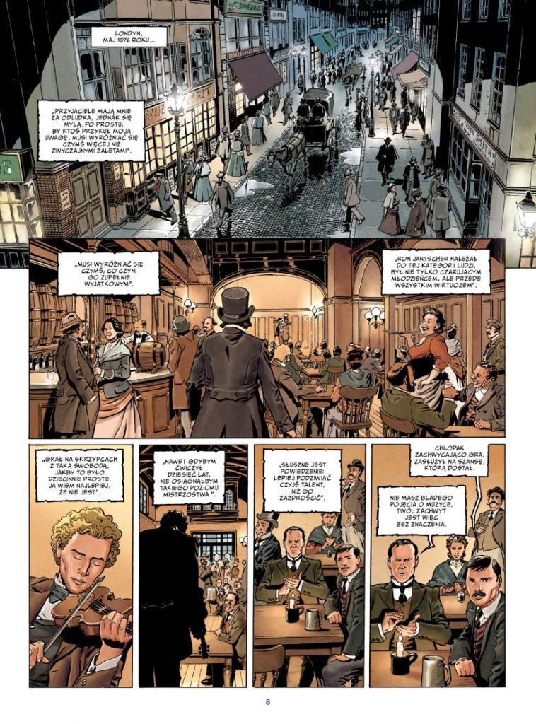 Sherlock Holmes Crime Alleys t. 1 Pierwsza sprawa 1 Gitarą Rysowane