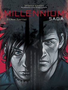 Millenium. Saga 2 Nowi spartiaci Okładka Gitarą Rysowane