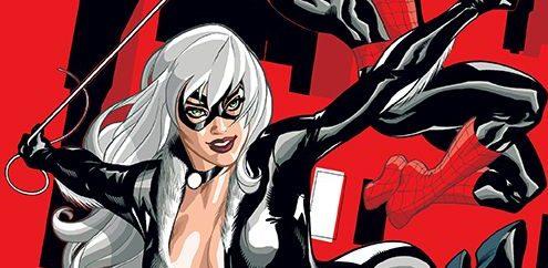 Spider-Man i Czarna Kotka Zło, które ludzie czynią Gitarą Rysowane