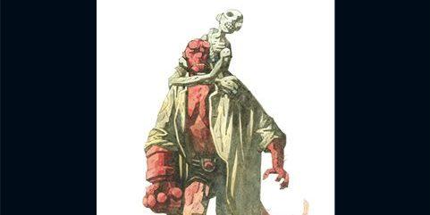 Hellboy tom 2 Spętana trumna Prawa ręka zniszczenia Gitarą Rysowane
