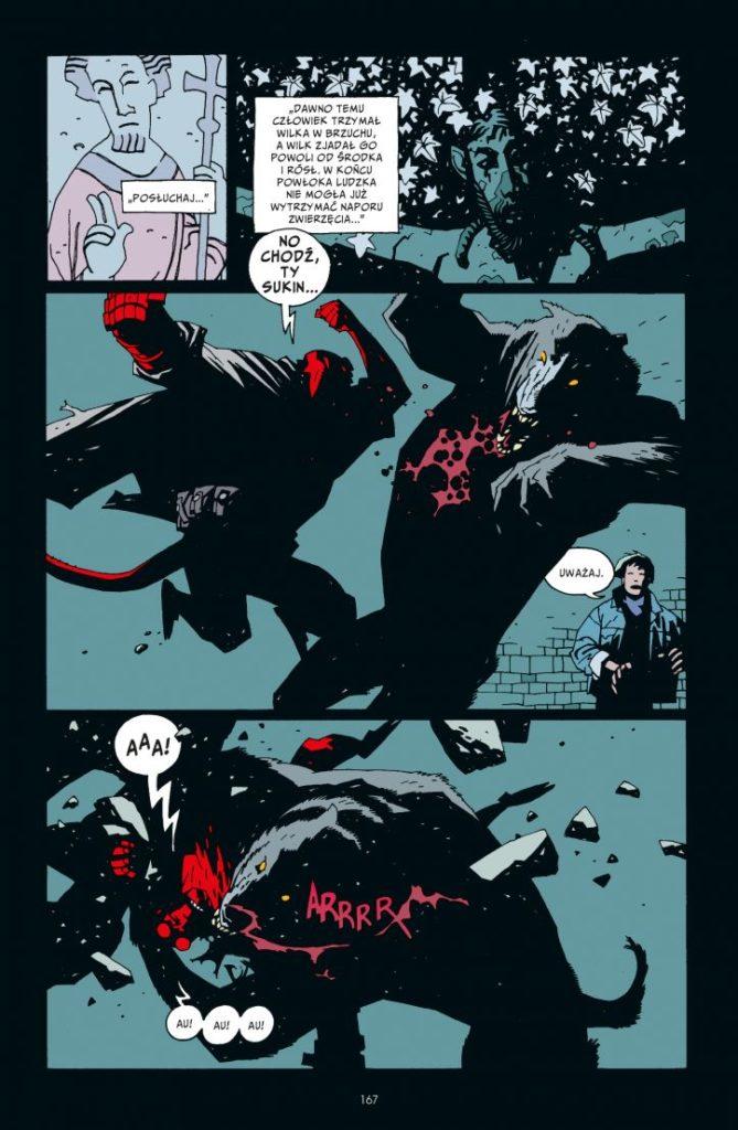 Hellboy tom 2 Spętana trumna Prawa ręka zniszczenia 1 Gitarą Rysowane