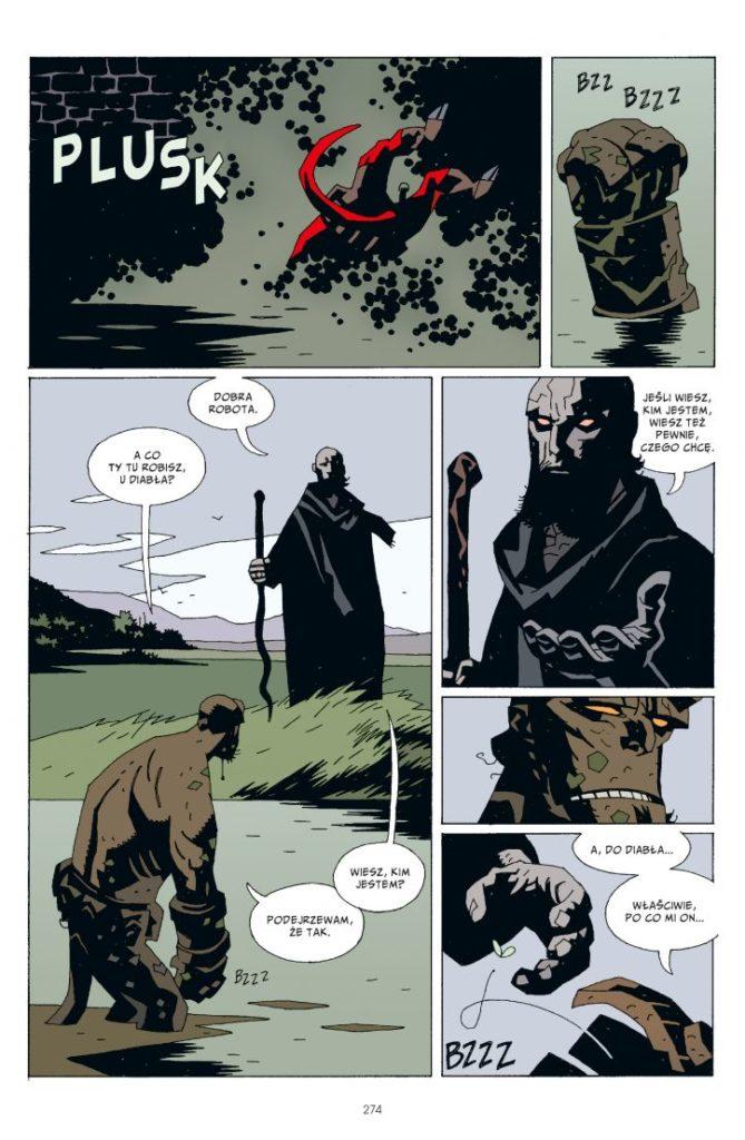 Hellboy tom 2 Spętana trumna Prawa ręka zniszczenia 2 Gitarą Rysowane
