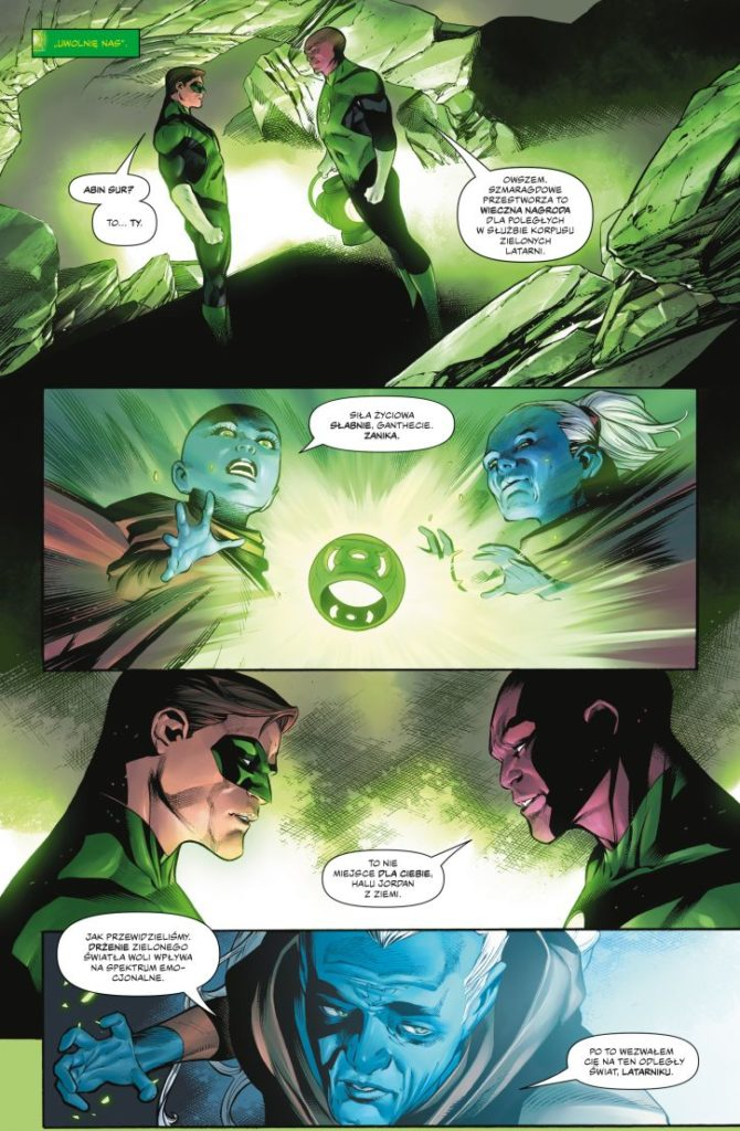 Hal Jordan i Korpus Zielonych Latarni 2 Światło w butelce 1 Gitarą Rysowane