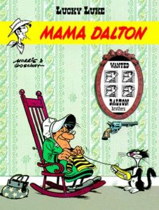Lucky Luke Mama Dalton Gitarą Rysowane