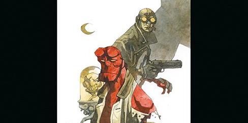 Hellboy tom 3 Zdobywca Czerw Dziwne miejsca Gitarą Rysowane
