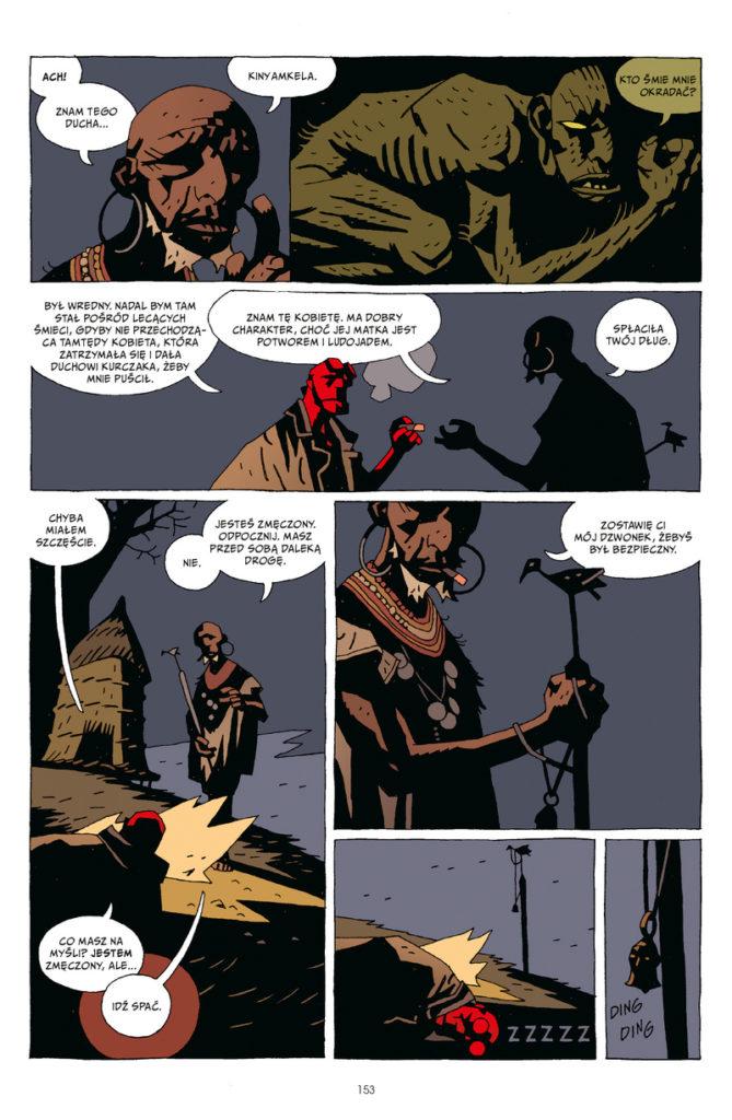 Hellboy tom 3 Zdobywca Czerw Dziwne miejsca 1 Gitarą Rysowane