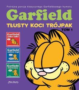 Garfield Tłusty koci trójpak tom 1 Okładka Gitarą Rysowane