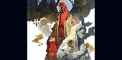 Hellboy tom 4 Lichwiarz / Trollowa wiedzma Gitarą Rysowane