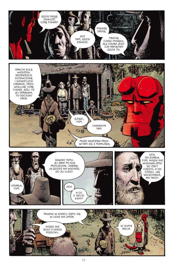Hellboy tom 4 Lichwiarz / Trollowa wiedzma 1 Gitarą Rysowane
