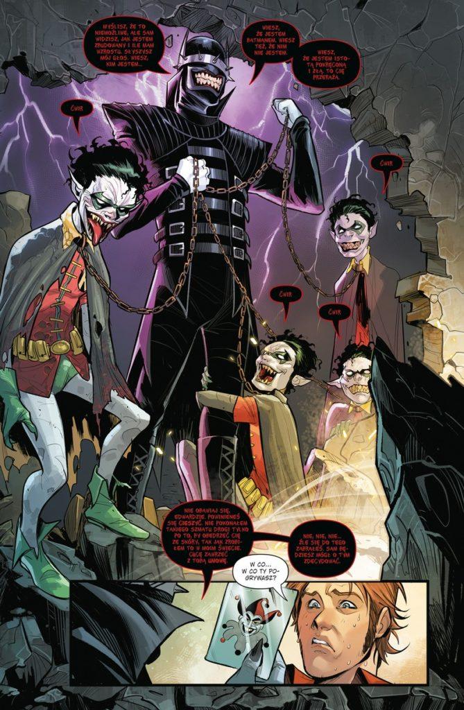 Batman Metal tom 1 Mroczne dni 1 Gitarą Rysowane