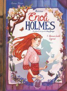 Śledztwa Enoli Holmes tom 1: Sprawa dwóch zaginięć Okładka Gitarą Rysowane