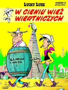 Lucky Luke tom 18 W cieniu wież wiertniczych Okładka Imaginaria