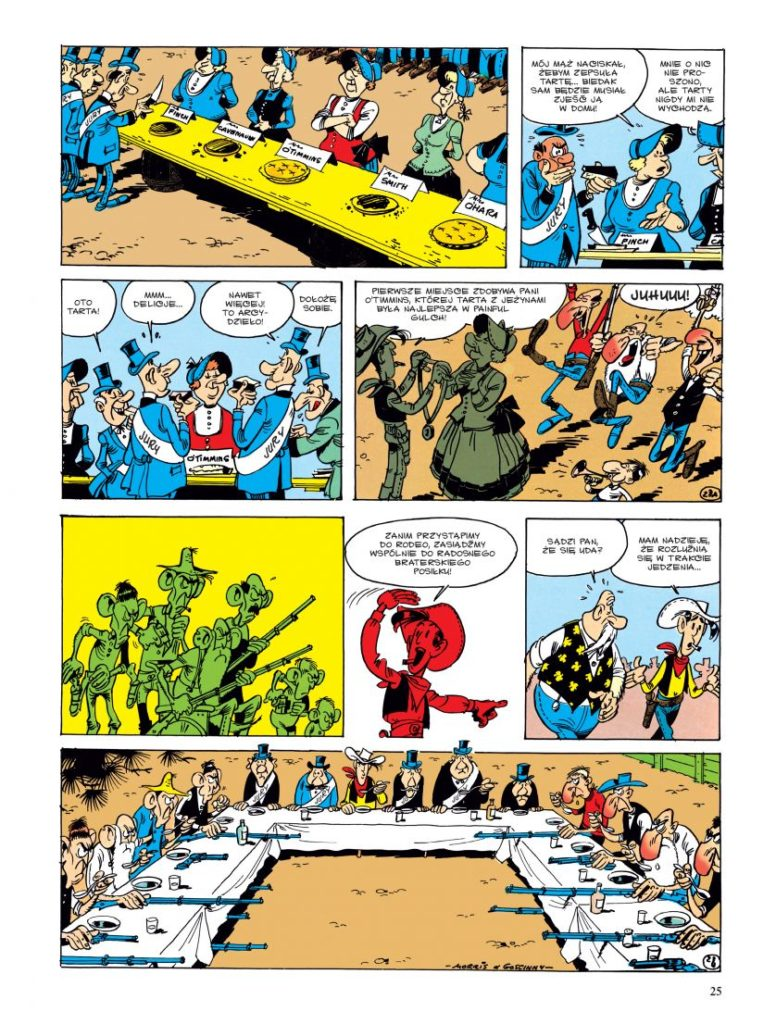 Lucky Luke tom 19 Rywale z Painful Gulch Imaginaria