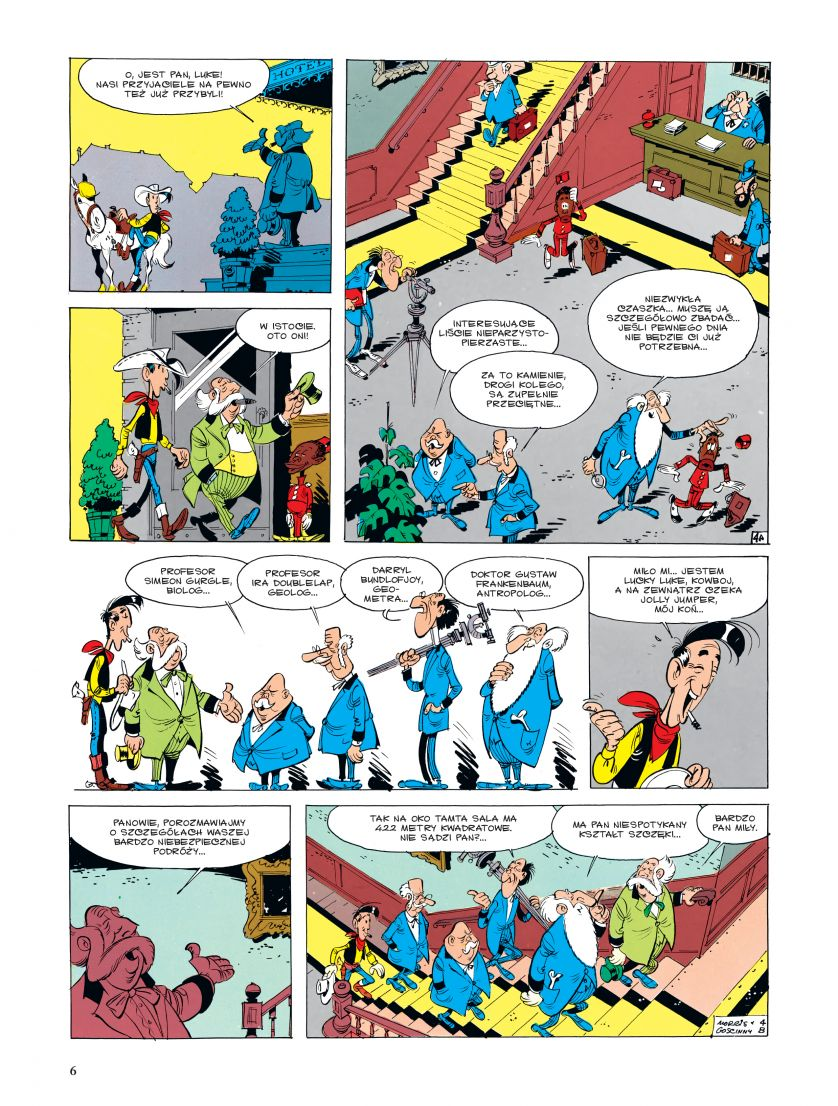Lucky Luke tom 22 Góry Czarne Plansza Imaginaria